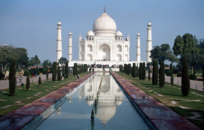 The impressive Taj Mahal