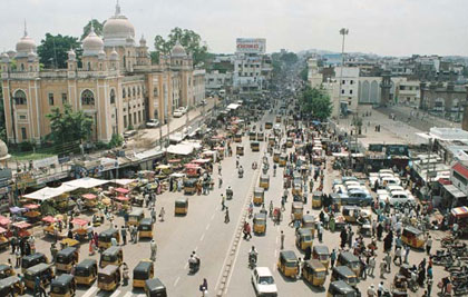 The Charminar - the heart of the city, built in 1591