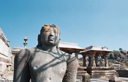 Statue of Bharata, brother of Bahubali